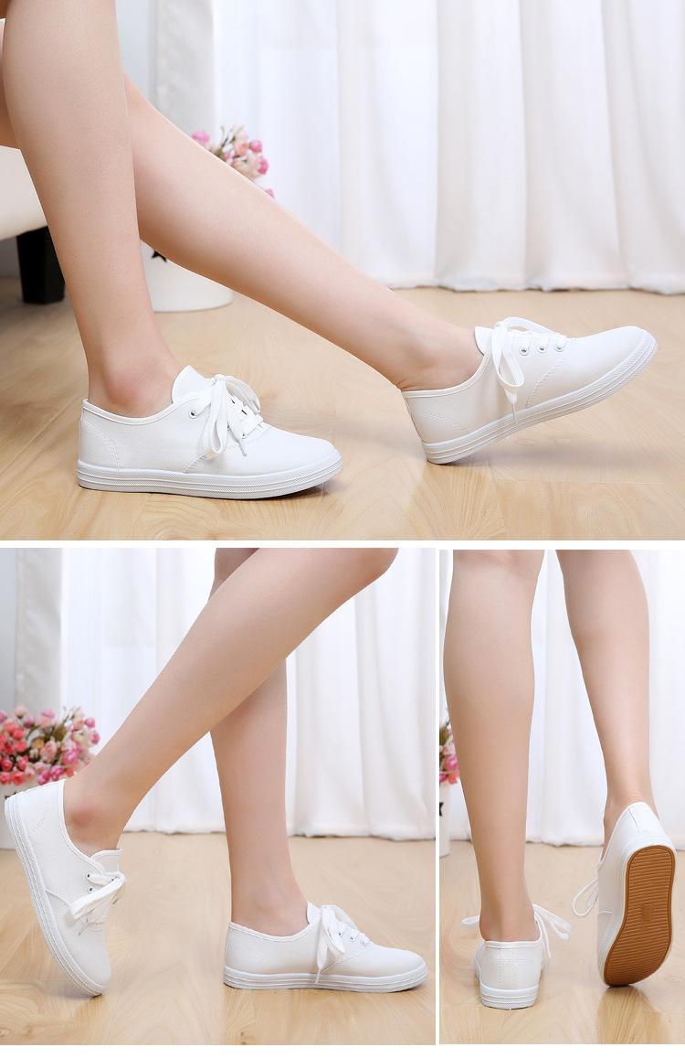 Giày nữ học sinh sinh viên trắng tinh mơ nhé