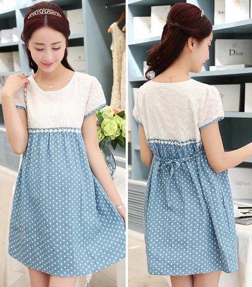 Đầm bầu- váy bầu mùa hè phong cách sang trọng