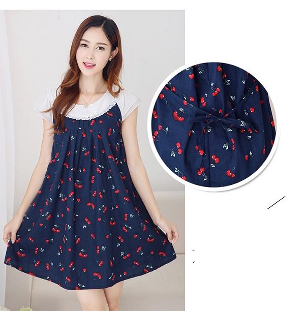 Chi tiết phía sau váy bầu Hàn Quốc sành điệu