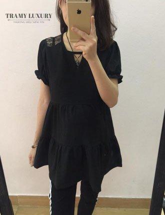 áo bầu tm40 2 màu đen và trắng