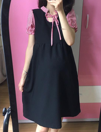 Váy bầu đầm bầu đẹp TM28 công sở có túi thiết kế