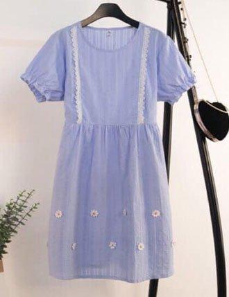 Đầm bầu dự tiệc quyến rũ TM200 sang trọng màu xanh da trời