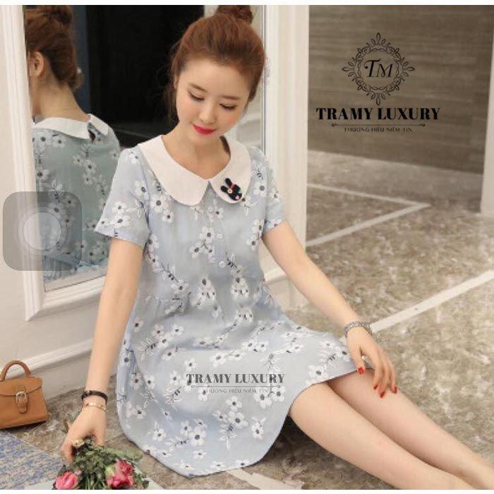 Váy bầu có cổ TM38 phong cách trẻ trung 03