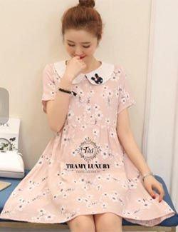 Váy bầu có cổ TM38 phong cách trẻ trung