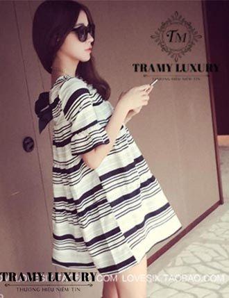 Váy bầu Hàn Quốc TM34 siêu kute cho mẹ xinh hình 02