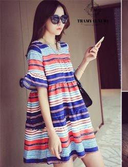 Váy bầu Hàn Quốc TM34 siêu kute cho mẹ xinh