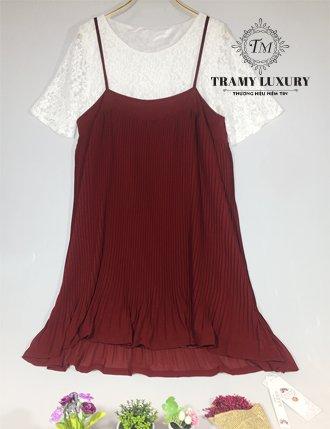 Đầm bầu dự tiệc đẹp TM68 đen trắng ren