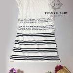 Đầm bầu Hàn Quốc TM61 kẻ sọc ngang cá tính sành điệu