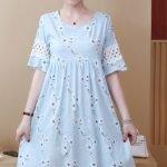 Đầm bầu đẹp Tm205 có thể mặc cho mẹ sau sinh