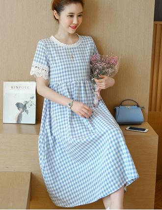 Đầm bầu suông công sở TM305 mùa hè siêu đẹp