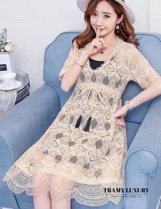 Đầm bầu đẹp hàng hiệu ren cao cấp