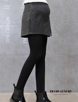 Quần váy dạ bầu thu đông chất siêu đẹp TM103