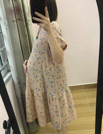 Váy bầu suông mùa hè TM22 xinh xắn
