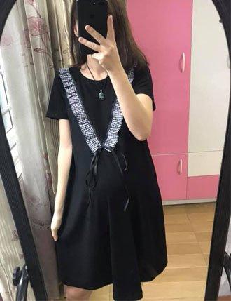 Đầm bầu Hàn Quốc TM34 siêu kute cho mẹ xinh