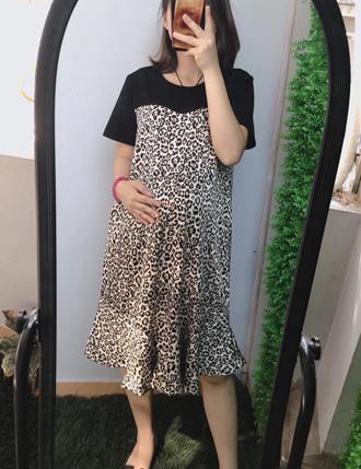 Váy bầu đầm bầu công sở TM24 voan cực xinh