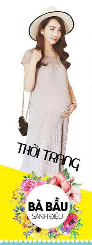 Poster banner đầm bầu đẹp nhất Trà My fashion shop